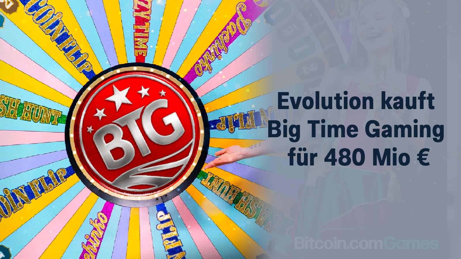 Evolution kauft Big Time Gaming